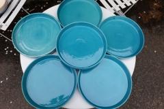Commande assiette turquoise pour restaurant
