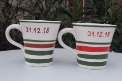 Commande deux tasses mariage personnalisées