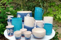 Collection dégradés bleu et turquoise