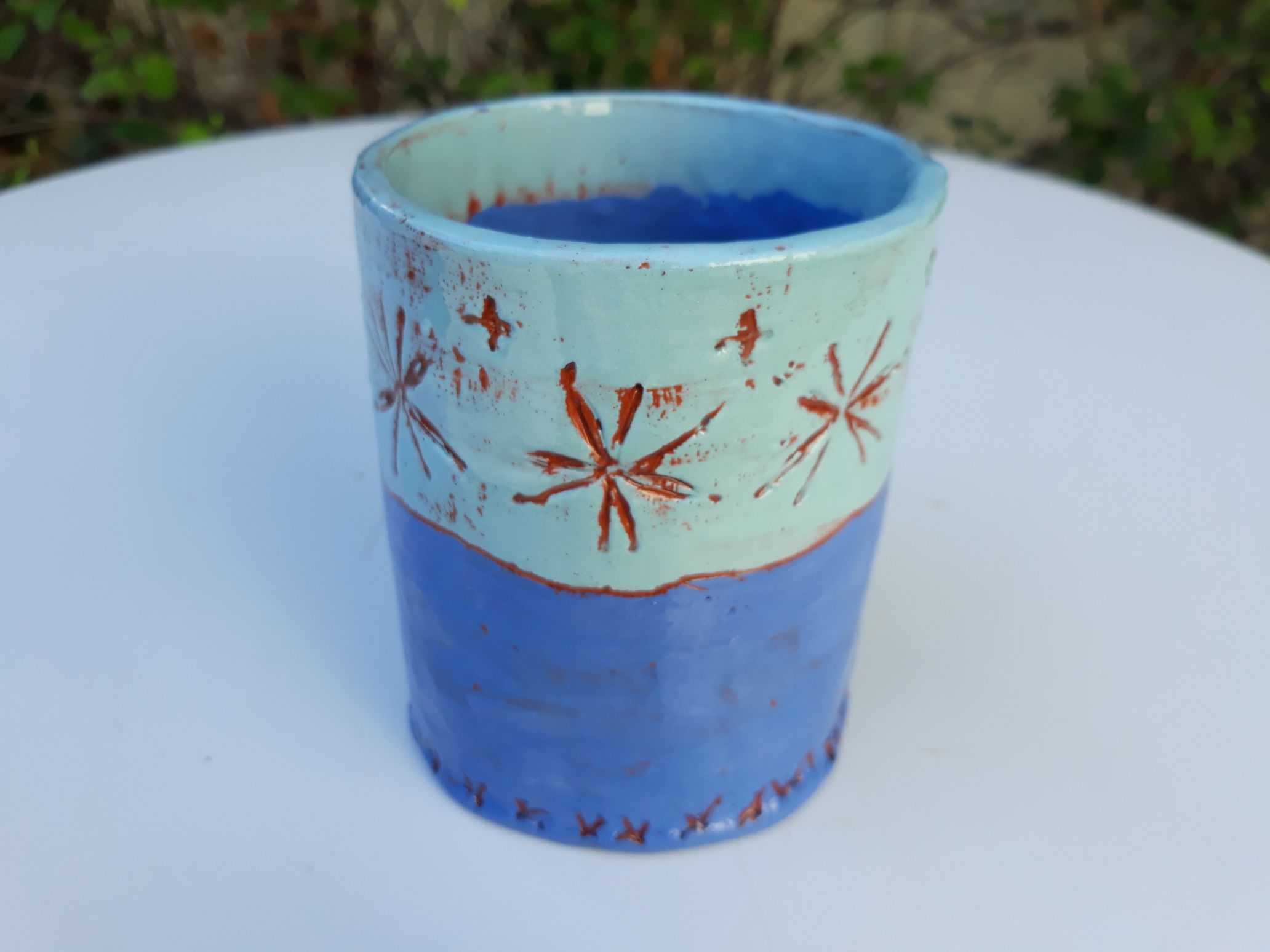 tasse camaieu de bleus